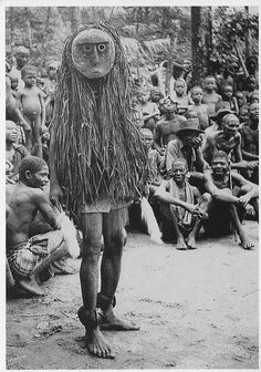Ibo Masquerades    Cross River Ibo. Ohaffia tribe. 'Okanku' masquerade. Mask called 'Otili'. photo taken by Dr.G.I.Jones 1931