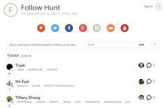 Follow Hunt, el Product Hunt de las personas interesantes a seguir en Social Media