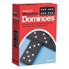 Pressman 152112 Toy Double Six Wooden Dominoes Ages 7 and Above Multicolor >>> Click image to review more details.
