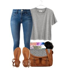 Banging by bryannilove on Polyvore featuring polyvore, fashion, style, Madewell, Frame Denim, Aéropostale, Uncommon and Jack Spade