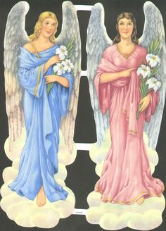 Online Antique and Collectibles Mall - over a half-million vintage antiques and collectible items for sale on-line. Vintage Paper, Vintage Dolls, Paper Dolls, Art Dolls, Angel Prints, Victorian Angels, Postcard Paper, Angels Beauty, Paper Scraps