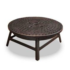 Repurposed Cast Iron Man Hole Cover Turned Coffee Table