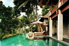 The Worlds Best Pools: The pool of the Bayugita pool within the COMO Shambhala Estate, Bali, hidden within the forests of Ubud.
