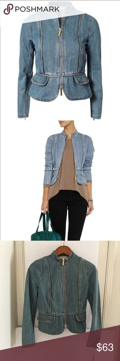 NWT Michael by Michael Kors Zip Denim Jacket MICHAEL Michael Kors mid-denim jacket Mid-weight denim Patch pockets, zipped cuffs and trims Two-way zip fastening through front 100% cotton. Designer wash: Light Indigo Mid-weight non-stretchy denim MICHAEL Michael Kors Jackets & Coats Jean Jackets