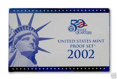 2002-S-United-States-Mint-Proof-Set-10-Coins-COA-OGP