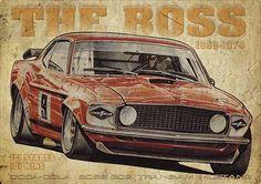 Allan Moffat's Trans Am Boss 302 Mustang Ford Mustang, Mustang Boss, Merida, Australian Cars, Trans Am, Us Cars, Mustangs, Vehicles, Image