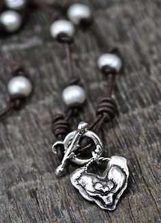 Pearl Necklace  Pure Heart Necklace  by islandcowgirl on Etsy, $72.00