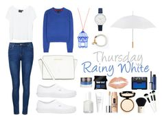 """Rainy White"" by intanrpatiwi on Polyvore featuring MINKPINK, Ally Fashion, Vans, MICHAEL Michael Kors, Olivia Burton, Essie, H&M, Clinique, NARS Cosmetics and Illamasqua"