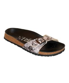 Take a look at this Brown Snake Madrid Slide - Women by Papillio on #zulily today!