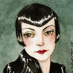 "Flapper Art Deco Woman ""Ma Look What the City Did to Me (Variation 1)"" Limited Edition Print by Amy Abshier Reyes 12/30"