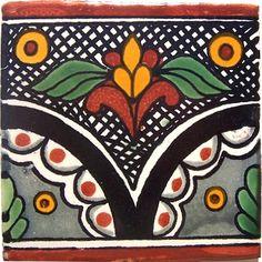 Black Arc Talavera Mexican Tile