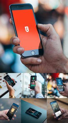 New iPhone 6 Photo Realistic HD Mockups #freepsdfiles #freepsdgraphics #freebies #vectoricons