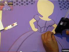 Figura de princesa sofia en foamy o gomaeva