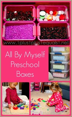 All By Myself Preschool Boxes from @{1plus1plus1} Carisa