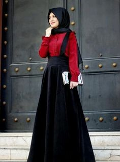 # style ♥ Muslimah fashion & hijab style – M Islamic Fashion, Muslim Fashion, Modest Fashion, Fashion Dresses, Style Fashion, Modest Dresses, Modest Outfits, Simple Dresses, Hijab Abaya