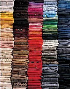 Nan Kempner sweater collection--mine's getting close. Nope, not kidding.