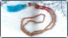 Mira este artículo en mi tienda de Etsy: https://www.etsy.com/listing/225460148/long-necklace-brown-and-red