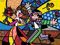 "Romero Britto ""Follow Me"" print"