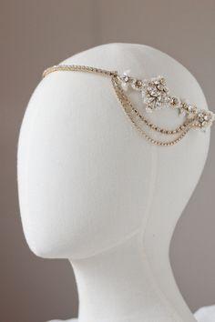 Gold Empress_rhinestone bridal headpiece for Janna