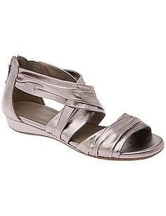 Cross strap comfort wedge sandal #Glimpse_by_TheFind