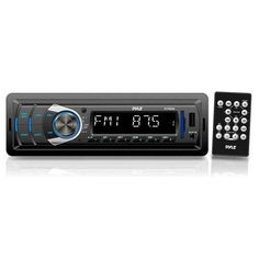 In-Dash Digital Receiver Headunit with USB/SD Card Readers, MP3/AUX-Input, AM/FM Radio, DC 12-24V Dual Voltage System Compatible with Car, Bus, Truck, RV, etc.
