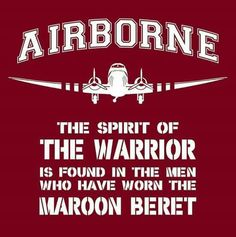Airborne all the way! Airborne Army, Airborne Ranger, 82nd Airborne Division, Army Life, Military Life, Military History, Army Day, Us Army, Parachute Regiment
