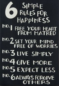 6 Simple Rules For Happiness
