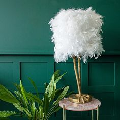 Ruffled Feather Brass Birds Leg Table Lamp - available from Audenza Ruffled Feathers, Ostrich Feathers, Feather Lamp, Turkey Feathers, Quirky Gifts, Unique Gifts, Decoration, Birds, Table Lamps