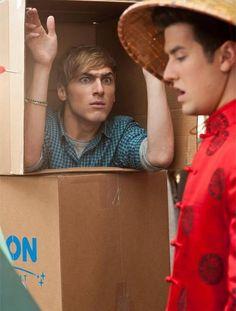 Kendall Schmidt & Logan Henderson. Kendall's faces just make me laugh so hard.