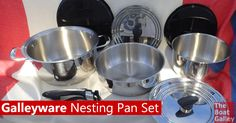 A great nesting pan set -- with numerous options as to number of pans and stainless/non-stick -- at a budget-friendly price! via @TheBoatGalley