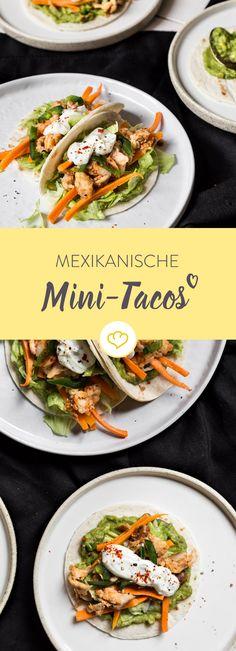 Hattu Möhrchen? Muttu in Taco packen! Aber nicht in einen x-beliebigen, sondern in mexikanische Mini-Tacos mit Fischfüllung, Jalapeños und Guacamole.