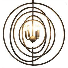 340$ Metal Circular 4-light Pendant | Overstock™ Shopping - Great Deals on Muse Chandeliers & Pendants