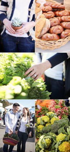 I LOVE this Farmers Market engagement session - what a great idea!