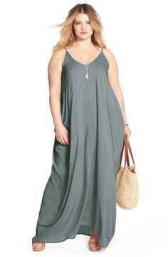 Elan Dress & Accessories (Plus Size) Dress Plus Size, Plus Size Maxi Dresses, Trendy Dresses, Plus Size Outfits, Nice Dresses, Flowing Dresses, Maxi Dresses Uk, Maxi Dress With Sleeves, Curvy Fashion