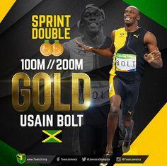 BOOOM! Usain Bolt  gets SPRINT DOUBLE! He WINS GOLD in Men's 200M in 19.78. #TeamJamaica #jamaicaolympics #usainbolt #rio2016 #Jaminate