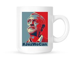 Jez We Can - Jeremy Corbyn Hashtag Iconic Picture on Novelty Tea/Coffee Mug/Cup - Gift Idea