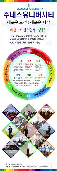 주네스석세스시스템 주관 jeunesse university korea  안내:2014년  4월25-26/장소:양지처인리조트/참가비:15만원