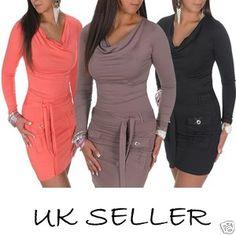 ♥ NEW! ♥ Sexy ♥ Stretch Tunic Dress with Pockets ♥ fits UK size 8-12  ~136~