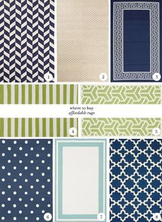 Design Darling: WHERE TO BUY AFFORDABLE RUGS. Rugs USA, Urban Outfitters, West Elm, Lulu  Georgia, Dash  Albert, The Land of Nod, Pottery Barn.