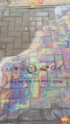 Lip like the galaxy' edge // Arctic Monkeys Quote Sidewalk Chalk Art, Rainbow Aesthetic, Aesthetic Space, Aesthetic Galaxy, Artist Aesthetic, Witch Aesthetic, Imagine Dragons, Oeuvre D'art, Belle Photo