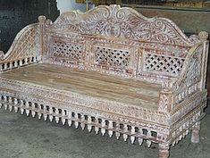 Bali carved bed