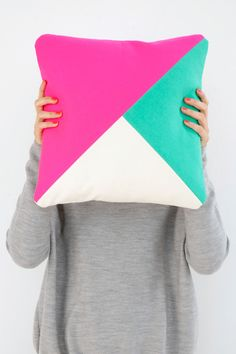 would be an easy pillow to make with the 3 triangles