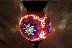Moroccan, Lantern, Hanging Light, Turkish Lamp, Night Shade, Mosaic Glass Lights #Handmade #Moroccan