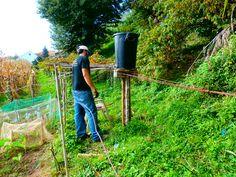 Poniendo un pequeño pozo casero en la zona del huerto de arriba, para que sea más fácil regar. Hay que arreglárselas como se pueda para que el agua tenga presión sin gastar dinero, xDDDDDD.