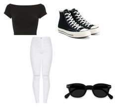 """Untitled #28"" by lejlasehic ❤ liked on Polyvore featuring Helmut Lang and Converse"