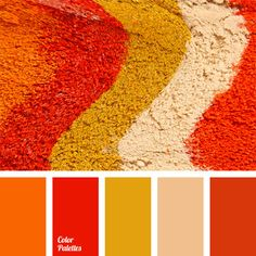 beige, burnt orange, color carrot, color matching, dark tangerine, mustard, ocher, orange monochrome color palette, orange-carrot color, shades of orange, shades of red, yellow monochrome color palette.