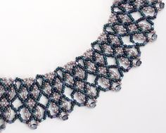 Twilight Dreams Necklace Beading Pattern by Sandra. D. Halpenny at Sova-Enterprises.com!