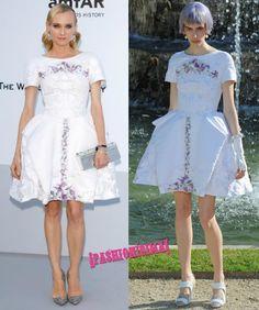 Diane Kruger a lo Maria Antonieta de Chanel Crucero 2013 en la gala amfAR de Cannes