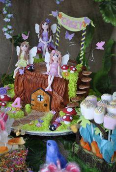 Faerie tree house cake House Cake, Best Part Of Me, Faeries, Tea Party, Plum, Gingerbread, Purple, Garden, Design