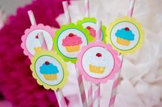 Cupcake Party with Lots of Really Cute Ideas via Kara's Party Ideas | KarasPartyIdeas.com #GirlyParty #PinkCupcakeParty #PartyIdeas #Supplies (16)